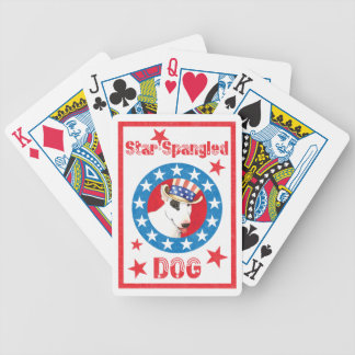 Patriotic Bull Terrier Bicycle Playing Cards