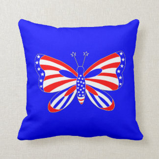 Patriotic Butterfly Cushion
