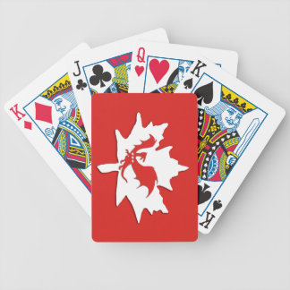 Patriotic Canadian Dragon Red Bicycle Playing Cards