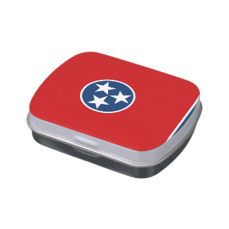Patriotic candy tins with Flag of Tennessee