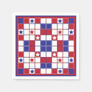 Patriotic Crossword Napkin Disposable Napkins