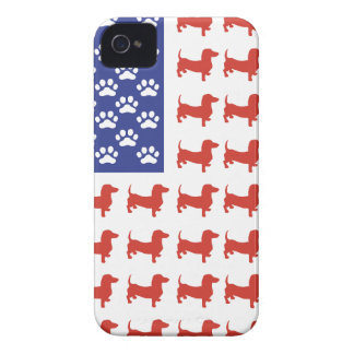 Patriotic Dachshund Doxie Case-Mate iPhone 4 Cases