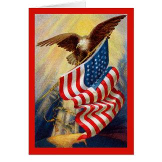 Patriotic Eagle Card
