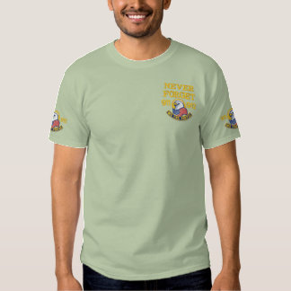 Patriotic Embroidery Embroidered T-Shirt