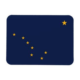 Patriotic flexible photo magnet with Alaska flag