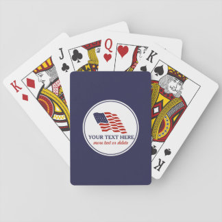 Patriotic Fourth of July American USA Flag Custom Playing Cards