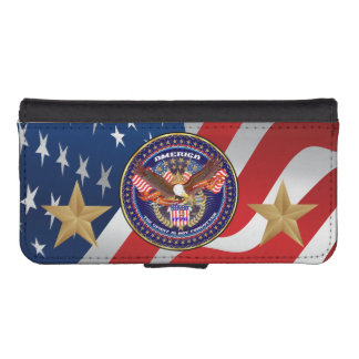Patriotic Galaxy S4 iPhone 5/5s Wallet Case