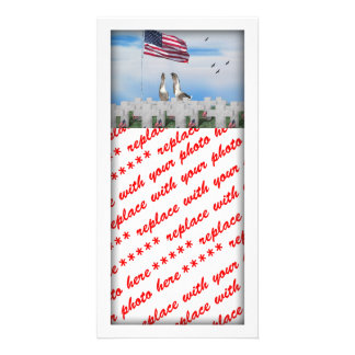 Patriotic Geese Saluting The American Flag Photo Greeting Card