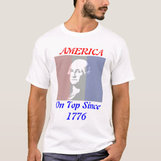 Patriotic George Washington Red White Blue Tee