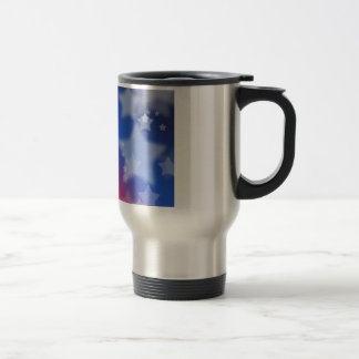 Patriotic Gifts Stars Red White Blue Stainless Steel Travel Mug