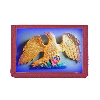 patriotic gold eagle wallet