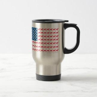 Patriotic Greyhound Dog Stainless Steel Travel Mug