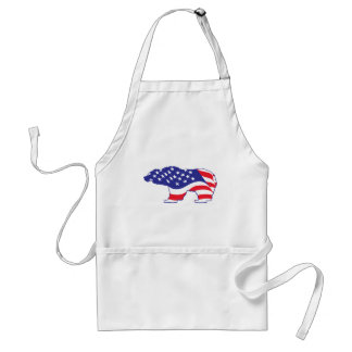 Patriotic Grizzly Bear Standard Apron