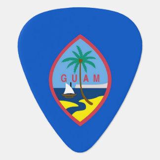 Patriotic guitar pick with Flag of Guam