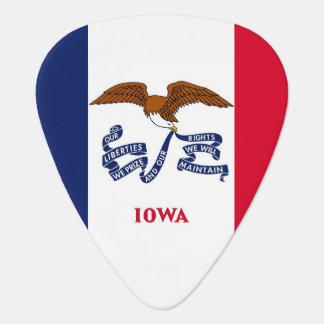 Patriotic guitar pick with Flag of Iowa