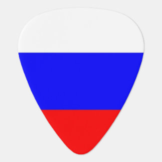 Patriotic guitar pick with Flag of Russia
