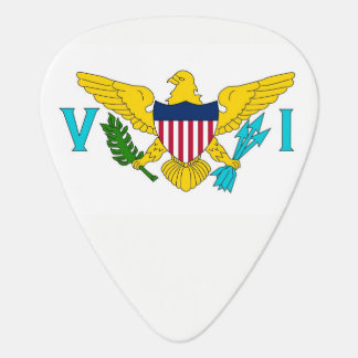 Patriotic guitar pick with Flag of Virgin Islands