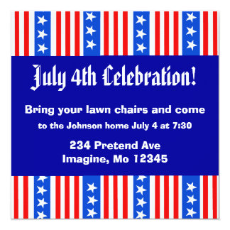 Patriotic Invitation