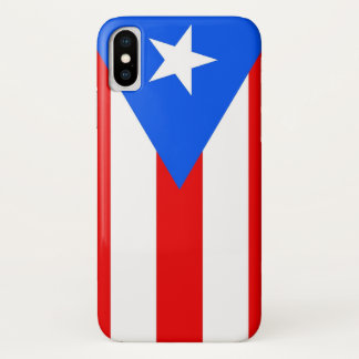 Patriotic Iphone X Case with Puerto Rico Flag