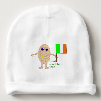 Patriotic Irish Egg Baby Beanie Hat