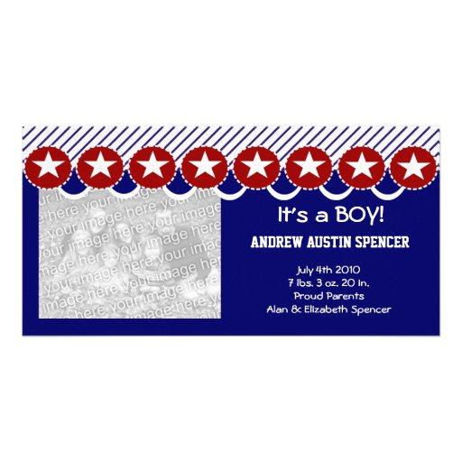 Patriotic It's a Boy Photo Cards