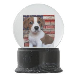 Patriotic Jack Russell terrier Snow Globe