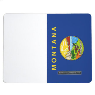 Patriotic journal with Flag of Montana