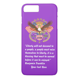 Patriotic Liberty Peace Majestic Purple iPhone 8 Plus/7 Plus Case