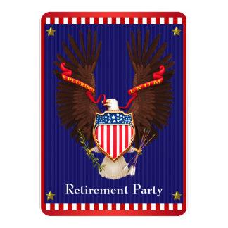 Patriotic Military Retirement Party 11 Cm X 16 Cm Invitation Card