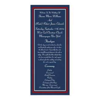 Patriotic Military Wedding Programs 10 Cm X 24 Cm Invitation Card
