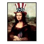 Patriotic Mona Lisa Postcards
