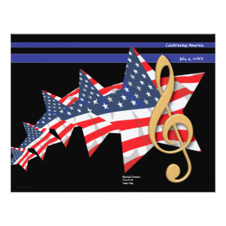 Patriotic Music Program Customizable 21.5 Cm X 28 Cm Flyer