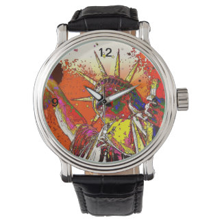 Patriotic New York City abstract statue of liberty Watch