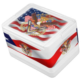 Patriotic or Veteran  Igloo 12 Can Cooler Chilly Bin