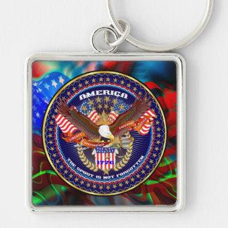 Patriotic or Veteran Premium Square Keychain