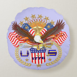 Patriotic or Veteran View About Design Round Cushion