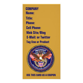 Patriotic or Veteran View Artist Comments Customised Photo Card