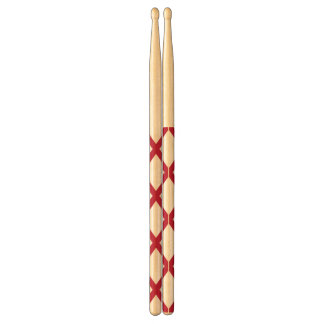 Patriotic pair of drumsticks with Flag of Alabama