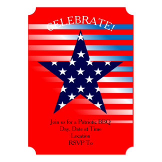 Patriotic Party July 4th Party Invitation