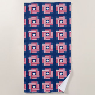 Patriotic Pattern American Flag Beach Towel