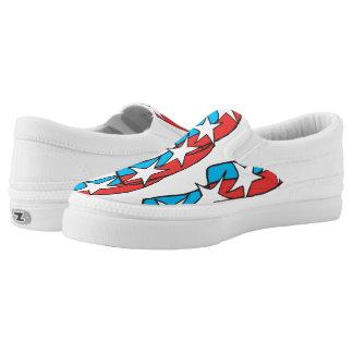 Patriotic Pattern Slip-On Shoes