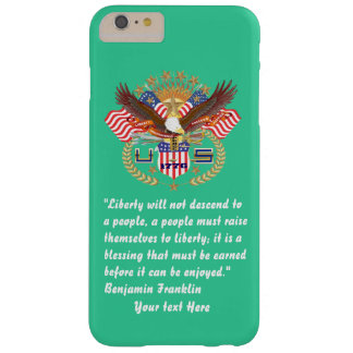 Patriotic Peace Forest Green Sea Barely There iPhone 6 Plus Case