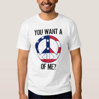 Patriotic Peace Sign Men's T-Shirt