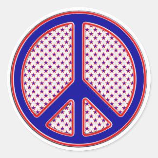PATRIOTIC PEACE SIGN STICKER