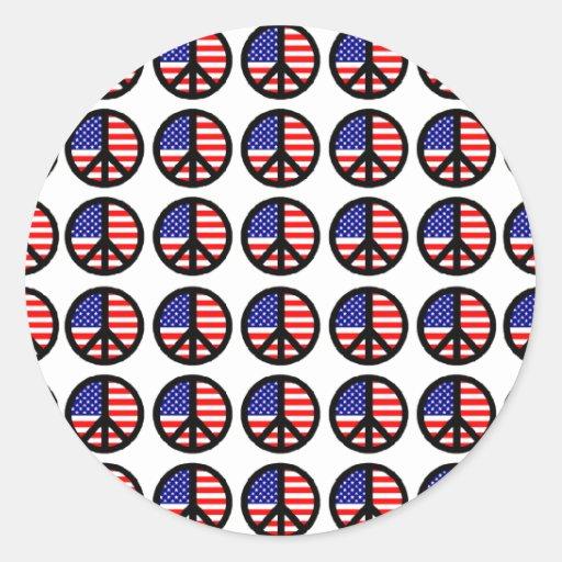 Patriotic Peace Signs Sticker