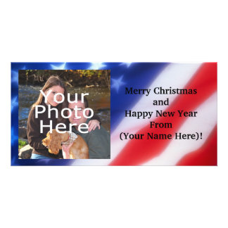 Patriotic Personalized Photo Card