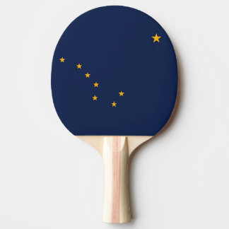 Patriotic, ping pong paddle with Flag of Alaska