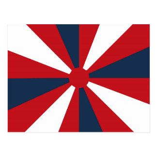 Patriotic Pinwheel Postcard