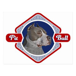 Patriotic Pit Bull Dog Logo Postcard