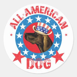 Patriotic Plott Classic Round Sticker
